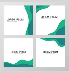 banner set in paper art style vector image