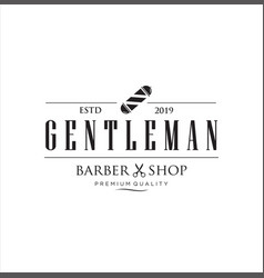 barbershop logo design stock vector image