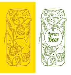 Beer can abstract ornament vector image
