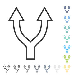 Bifurcation arrow up icon vector