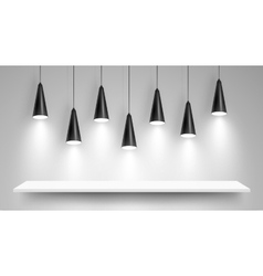 Black ceiling lamps vector image