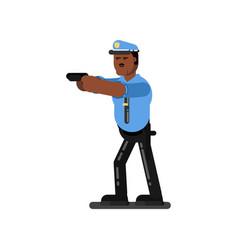 black police officer vector image