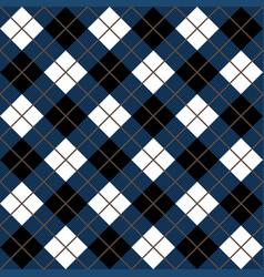 Blue and black argyle harlequin seamless pattern vector