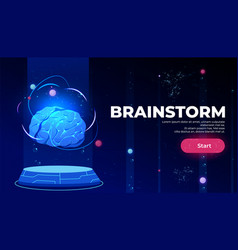 brainstorm landing page artificial intelligence vector image