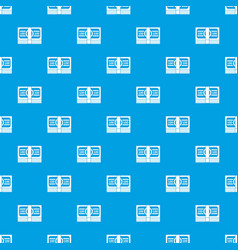 bundle of money pattern seamless blue vector image