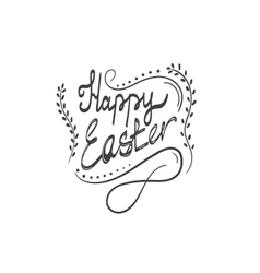Card with Happy Easter lettering-4 vector image