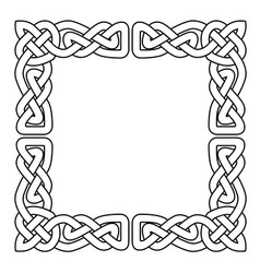 Celtic national seamless ornament interlaced tape vector