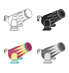 Circus cannon icon in cartoon style isolated on vector