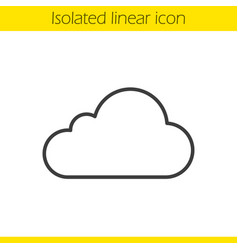cloud hosting linear icon vector image