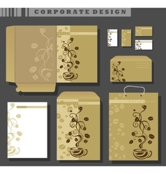 Corporate Identity template coffee vector
