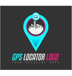 Creative gps city locator logo design for brand vector