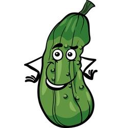 Cute cucumber vegetable cartoon vector