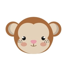 Cute little monkey animal character vector