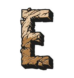 Desert alphabet letter e colorful template vector