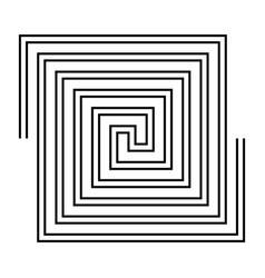 design monochrome labyrinth background vector image