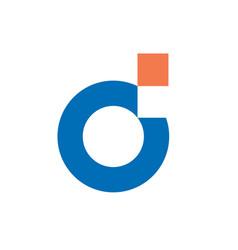digital letter d logo vector image