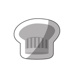 Dotted sticker of chefs hat shading and oval vector