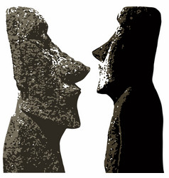 Easter island heads vector