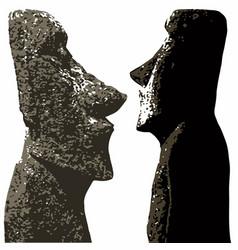 Easter island heads vector