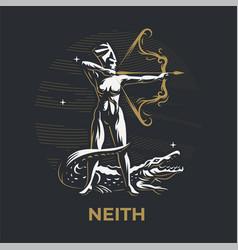 Egyptian goddess neith vector