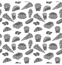 Fast Food decorative seamless pattern vector image