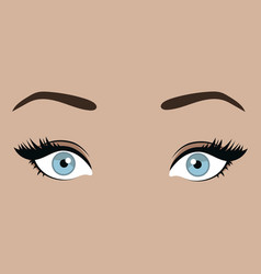 Female eyes with emotion look girl vector