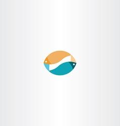 Fish sign logo icon design symbol vector