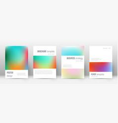 flyer layout minimalistic astonishing template fo vector image