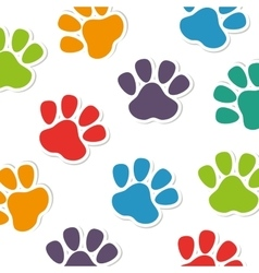 Foot print animal pattern vector