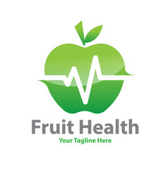 fruit health logo designs vector image