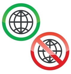 Global permission signs set vector image
