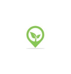 green leaf plant eco logo vector image
