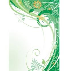 Herbal background vector