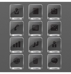 Infographic icon monochrome vector image