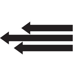 left arrow icon left arrow icon eps10 left arrow vector image