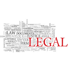 Legal word cloud concept vector