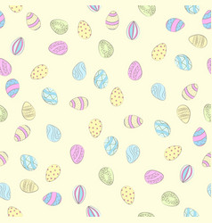 little easter eggs color vector image