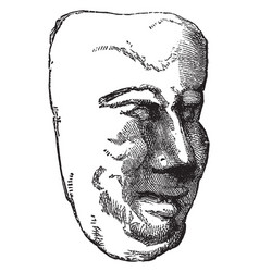 Mask is a mexican clay mask vintage engraving vector