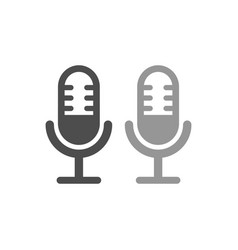 Microphone simple icon white design vector