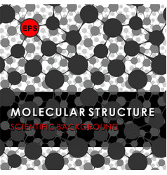 Molecular structure scientific background vector