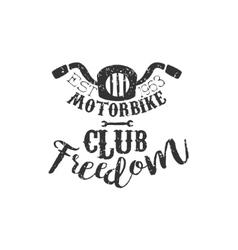 Motorbike Club Freedom Vintage Emblem vector