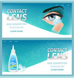 New generation clean vision horizontal banner set vector
