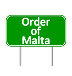 Order of Malta road sign vector