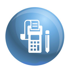 payment terminal icon simple style vector image