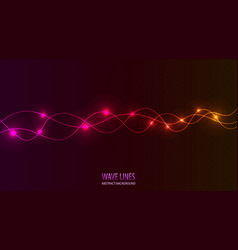 Pink purple wave lines abstract background vector