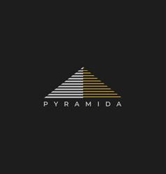 pyramid logo design vector image