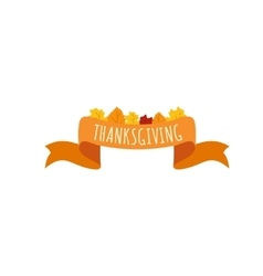 Ribbon thanksgiving icon vector