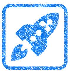 ripple rocket framed stamp vector image