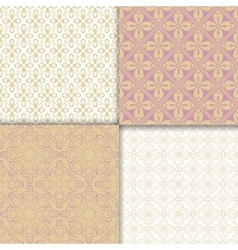 Romantic style light colors pattern set vector