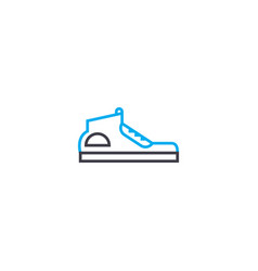 running shoes thin line stroke icon vector image